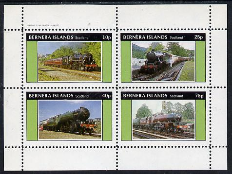 Bernera 1982 Steam Locos #05 perf  set of 4 values (10p to 75p) unmounted mint