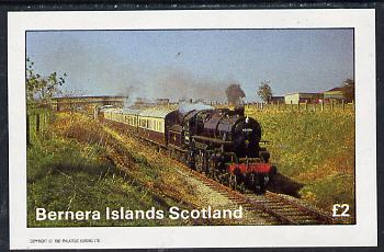 Bernera 1982 Steam Locos #05 imperf deluxe sheet (�2 value) unmounted mint