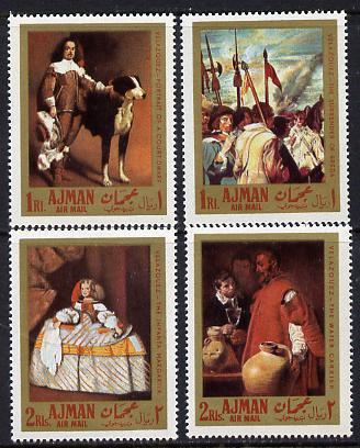 Ajman 1968 Paintings by Velazquez set of 4 (Mi 218-21A) unmounted mint