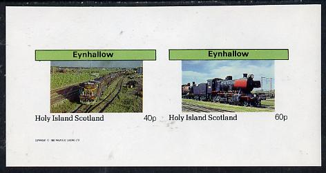 Eynhallow 1982 Steam Locos #08 imperf  set of 2 values (40p & 60p) unmounted mint