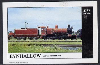 Eynhallow 1982 Steam Locos #08 imperf deluxe sheet (�2 value) unmounted mint