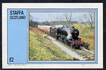 Staffa 1982 Steam Locos #04 imperf deluxe sheet (�2 value) unmounted mint