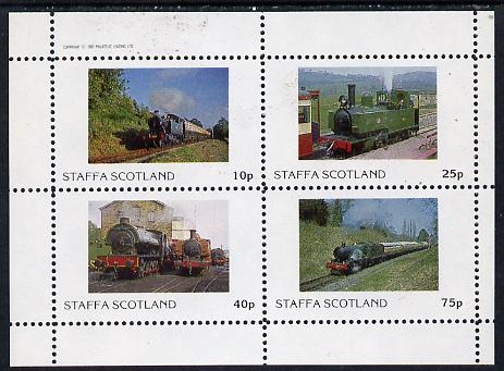 Staffa 1982 Steam Locos #05 perf  set of 4 values (10p to 75p) unmounted mint