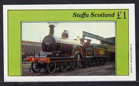 Staffa 1982 Steam Locos #05 imperf souvenir sheet (�1 value) unmounted mint