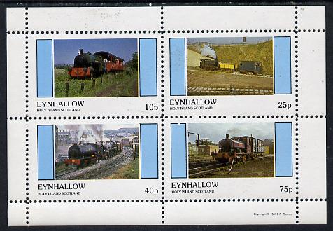Eynhallow 1981 Steam Locos #02 perf  set of 4 values unmounted mint
