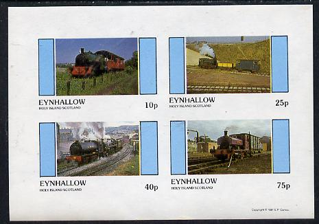 Eynhallow 1981 Steam Locos #02 imperf  set of 4 values unmounted mint