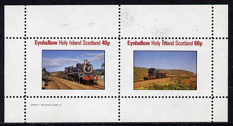 Eynhallow 1982 Steam Locos #09 perf  set of 2 values (40p & 60p) unmounted mint