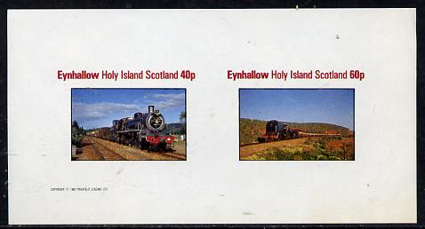 Eynhallow 1982 Steam Locos #09 imperf  set of 2 values (40p & 60p) unmounted mint