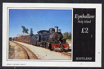 Eynhallow 1982 Steam Locos #09 imperf deluxe sheet (�2 value) unmounted mint