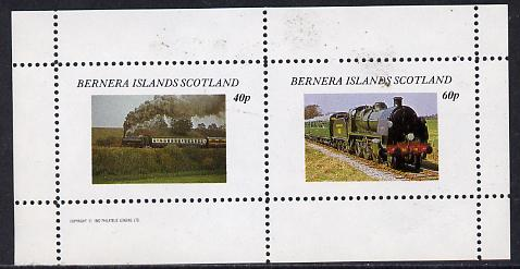 Bernera 1982 Steam Locos #06 perf  set of 2 values (40p & 60p) unmounted mint
