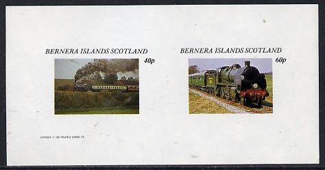 Bernera 1982 Steam Locos #06 imperf  set of 2 values (40p & 60p) unmounted mint
