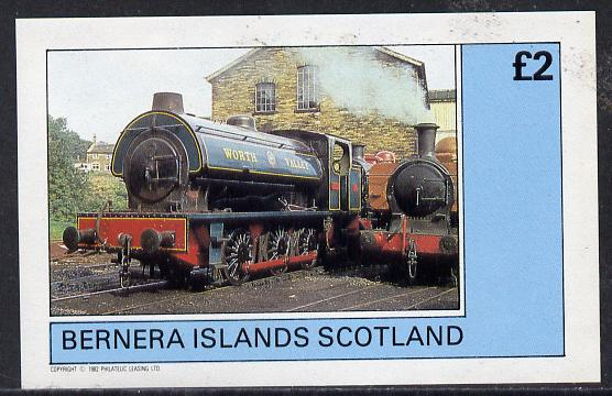 Bernera 1982 Steam Locos #06 (Worth Valley Saddle tank) imperf deluxe sheet (�2 value) unmounted mint