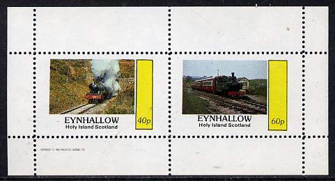 Eynhallow 1982 Steam Locos #11 perf  set of 2 values (40p & 60p) unmounted mint