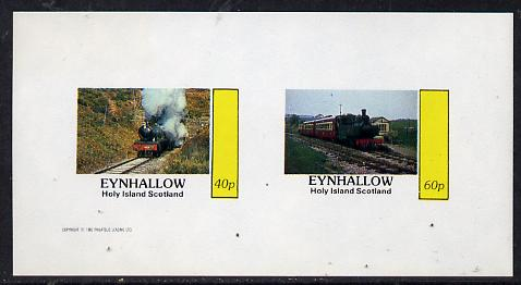 Eynhallow 1982 Steam Locos #11 imperf  set of 2 values (40p & 60p) unmounted mint