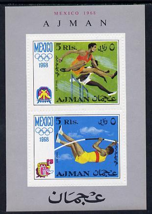 Ajman 1968 Mexico Olympics perf m/sheet unmounted mint (Mi BL 32A)