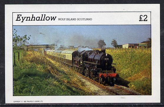 Eynhallow 1982 Steam Locos #11 imperf deluxe sheet (�2 value) unmounted mint