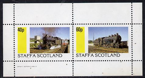 Staffa 1982 Steam Locos #06 perf  set of 2 values (40p & 60p) unmounted mint