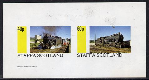 Staffa 1982 Steam Locos #06 imperf  set of 2 values (40p & 60p) unmounted mint