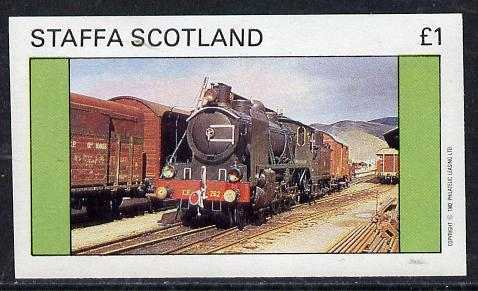 Staffa 1982 Steam Locos #06 imperf souvenir sheet (�1 value) unmounted mint