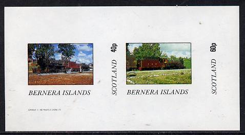 Bernera 1982 Steam Locos #07 imperf  set of 2 values (40p & 60p) unmounted mint