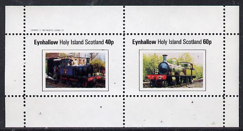 Eynhallow 1982 Steam Locos #12 perf  set of 2 values (40p & 60p) unmounted mint