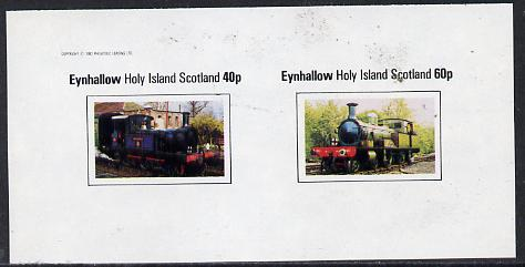 Eynhallow 1982 Steam Locos #12 imperf  set of 2 values (40p & 60p) unmounted mint