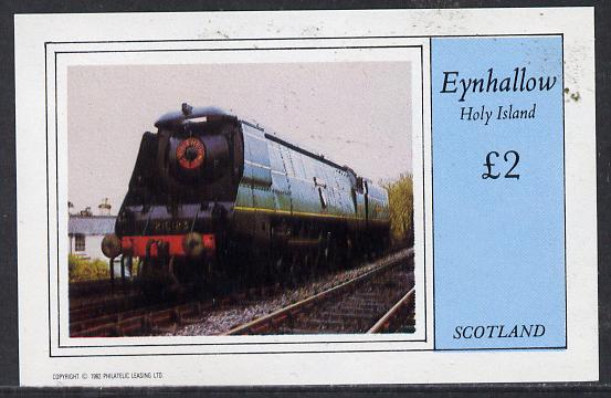 Eynhallow 1982 Steam Locos #12 imperf deluxe sheet (�2 value) unmounted mint