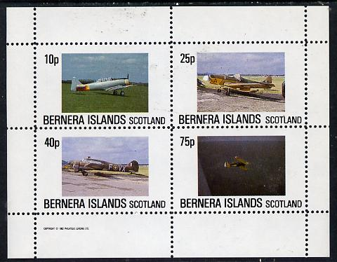 Bernera 1982 Aircraft #02 perf  set of 4 values (10p to 75p) unmounted mint