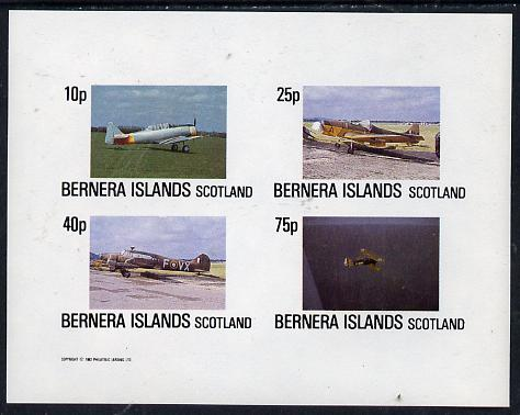 Bernera 1982 Aircraft #02 imperf  set of 4 values (10p to 75p) unmounted mint