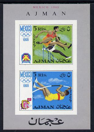 Ajman 1968 Mexico Olympics imperf m/sheet unmounted mint (Mi BL 32B)