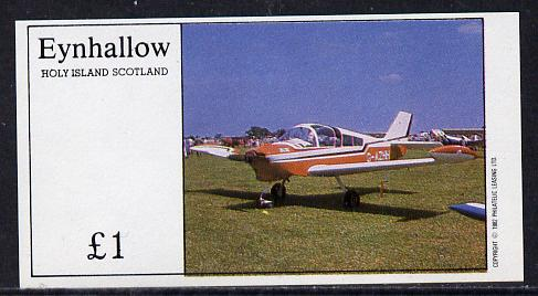 Eynhallow 1982 Light Aircraft #3 imperf souvenir sheet (�1 value) unmounted mint