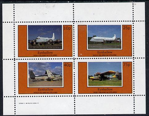 Eynhallow 1982 Aircraft #4 perf  set of 4 values (10p to 75p) unmounted mint