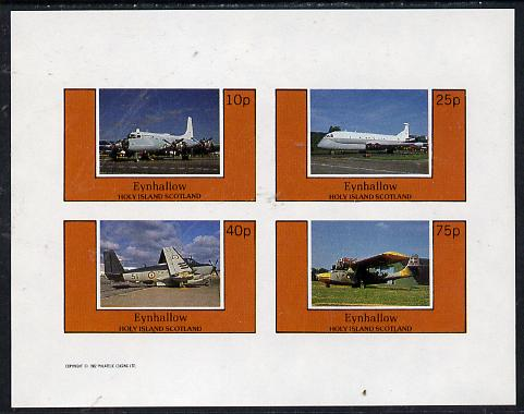 Eynhallow 1982 Aircraft #4 imperf  set of 4 values (10p to 75p) unmounted mint