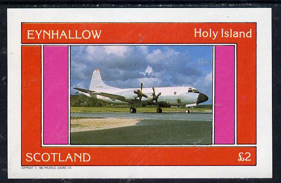 Eynhallow 1982 Aircraft #4 imperf deluxe sheet (�2 value) unmounted mint