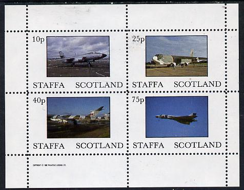 Staffa 1982 Military Jets perf  set of 4 values (10p to 75p) unmounted mint