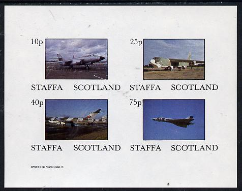 Staffa 1982 Military Jets imperf  set of 4 values (10p to 75p) unmounted mint