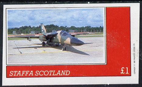 Staffa 1982 Military Jets imperf souvenir sheet (�1 value)  unmounted mint