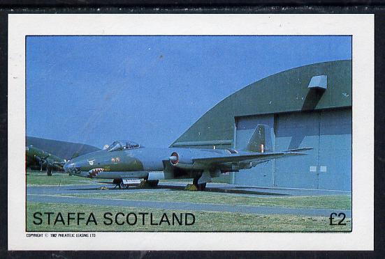 Staffa 1982 Military Jets imperf deluxe sheet (�2 value) unmounted mint