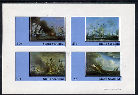 Staffa 1981 Paintings of Sea Battles imperf  set of 4 values (10p to 75p) unmounted mint