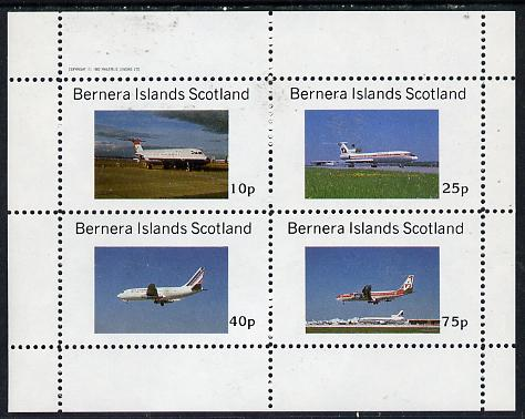 Bernera 1982 Airliners perf  set of 4 values (10p to 75p) unmounted mint