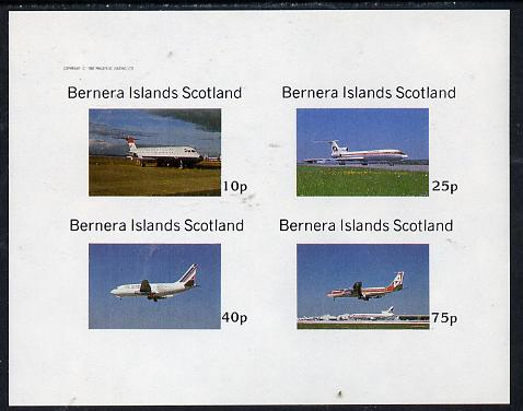 Bernera 1982 Airliners imperf  set of 4 values (10p to 75p) unmounted mint