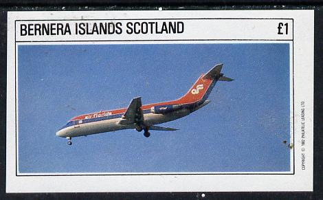 Bernera 1982 Airliners imperf souvenir sheet (�1 value) unmounted mint