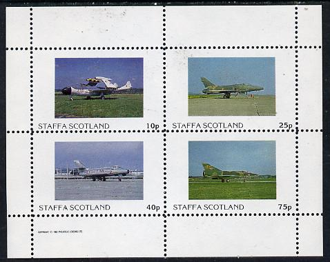 Staffa 1982 Military Jets #2 perf  set of 4 values (10p to 75p) unmounted mint