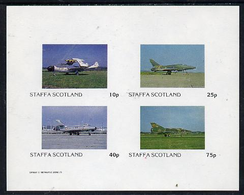 Staffa 1982 Military Jets #2 imperf  set of 4 values (10p to 75p) unmounted mint