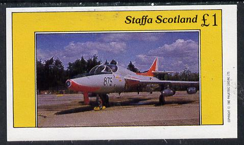 Staffa 1982 Military Jets #2 imperf souvenir sheet (�1 value)  unmounted mint