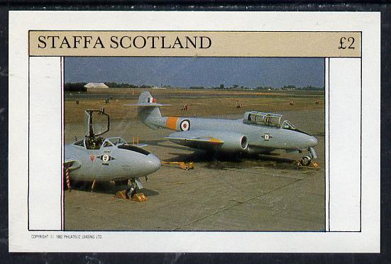 Staffa 1982 Military Jets #2 imperf deluxe sheet (�2 value) unmounted mint