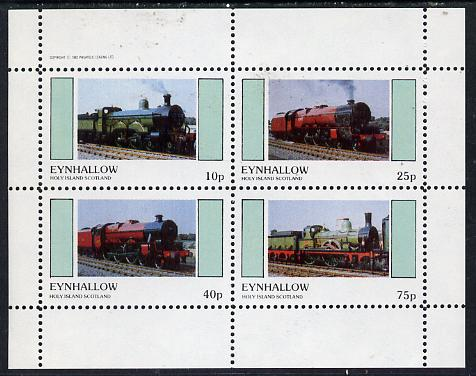 Eynhallow 1982 Steam Locos #13 perf  set of 4 values (10p to 75p) unmounted mint