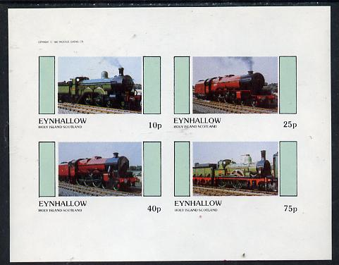 Eynhallow 1982 Steam Locos #13 imperf  set of 4 values (10p to 75p) unmounted mint
