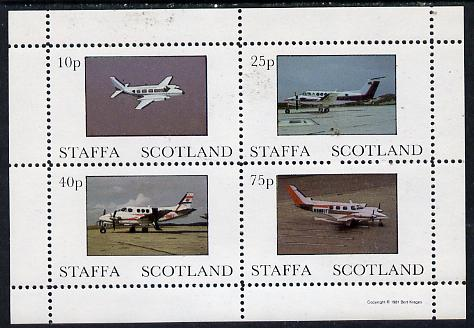 Staffa 1981 Light Aircraft #1 perf  set of 4 values unmounted mint
