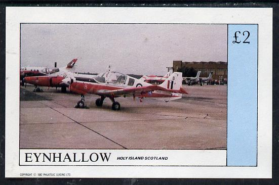 Eynhallow 1982 Aircraft #2 imperf deluxe sheet (�2 value) unmounted mint